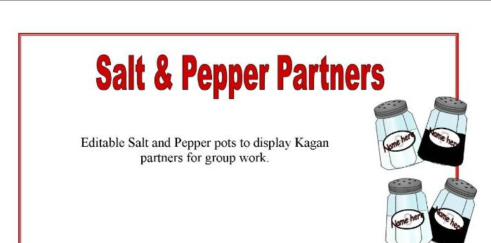 Editable Salt & Pepper Pot Kagan Partners Display