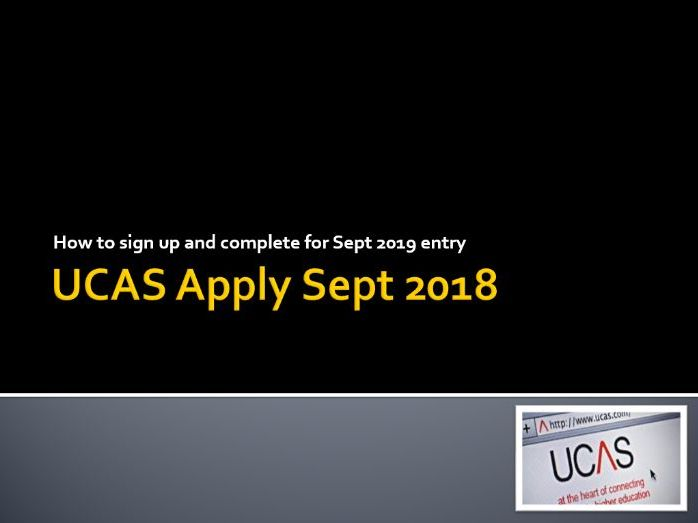 Completing UCAS Apply 2018-19