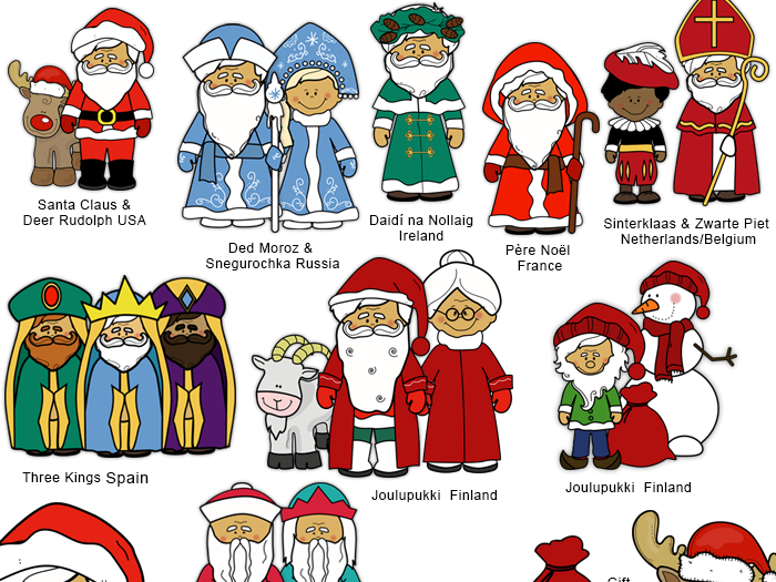 Santas Around The World Clip Art-Santa Clause clip art