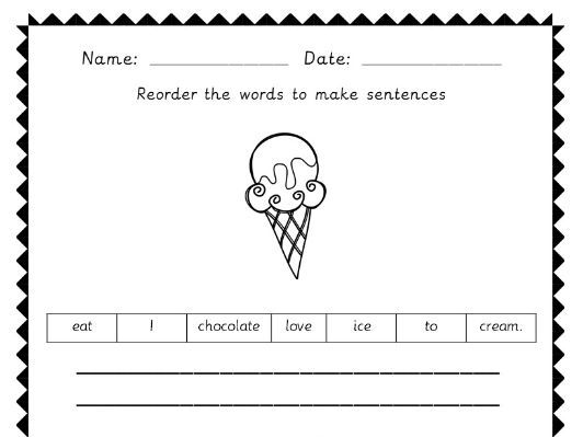 Year 1 punctuation spag worksheets - capitals and full stops