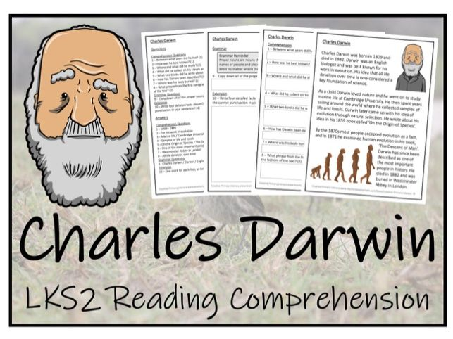 LKS2 Science - Charles Darwin Reading Comprehension Activity