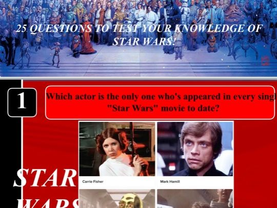 Star Wars quiz for use in tutor time