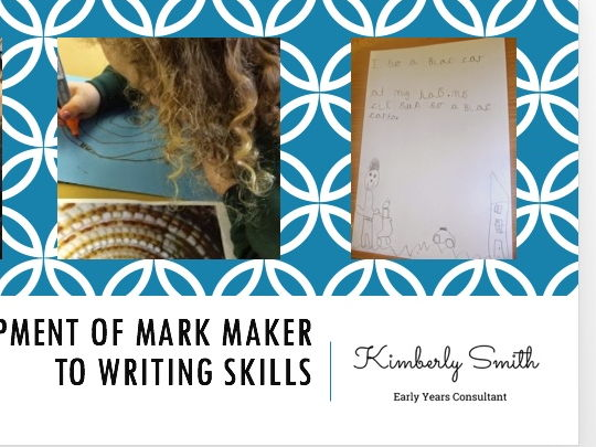 Mark Making into Writing