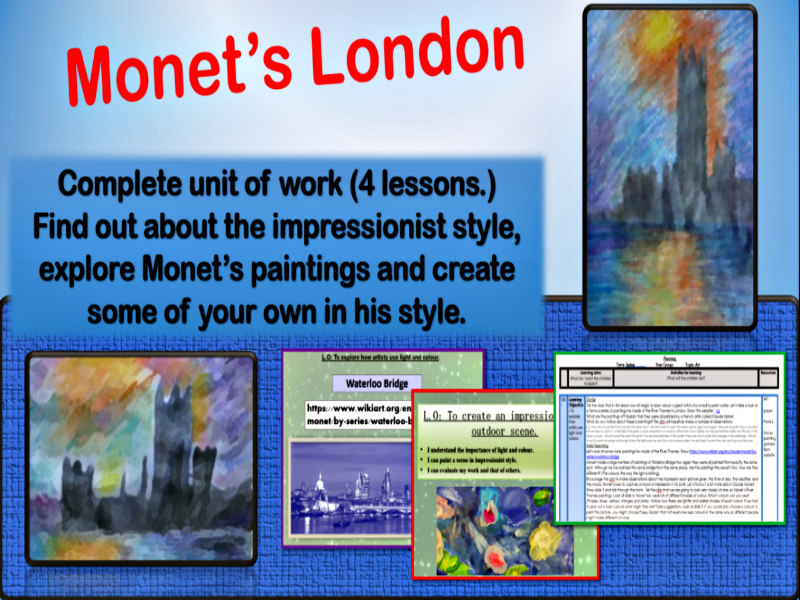 Monet Painting scheme of work KS2