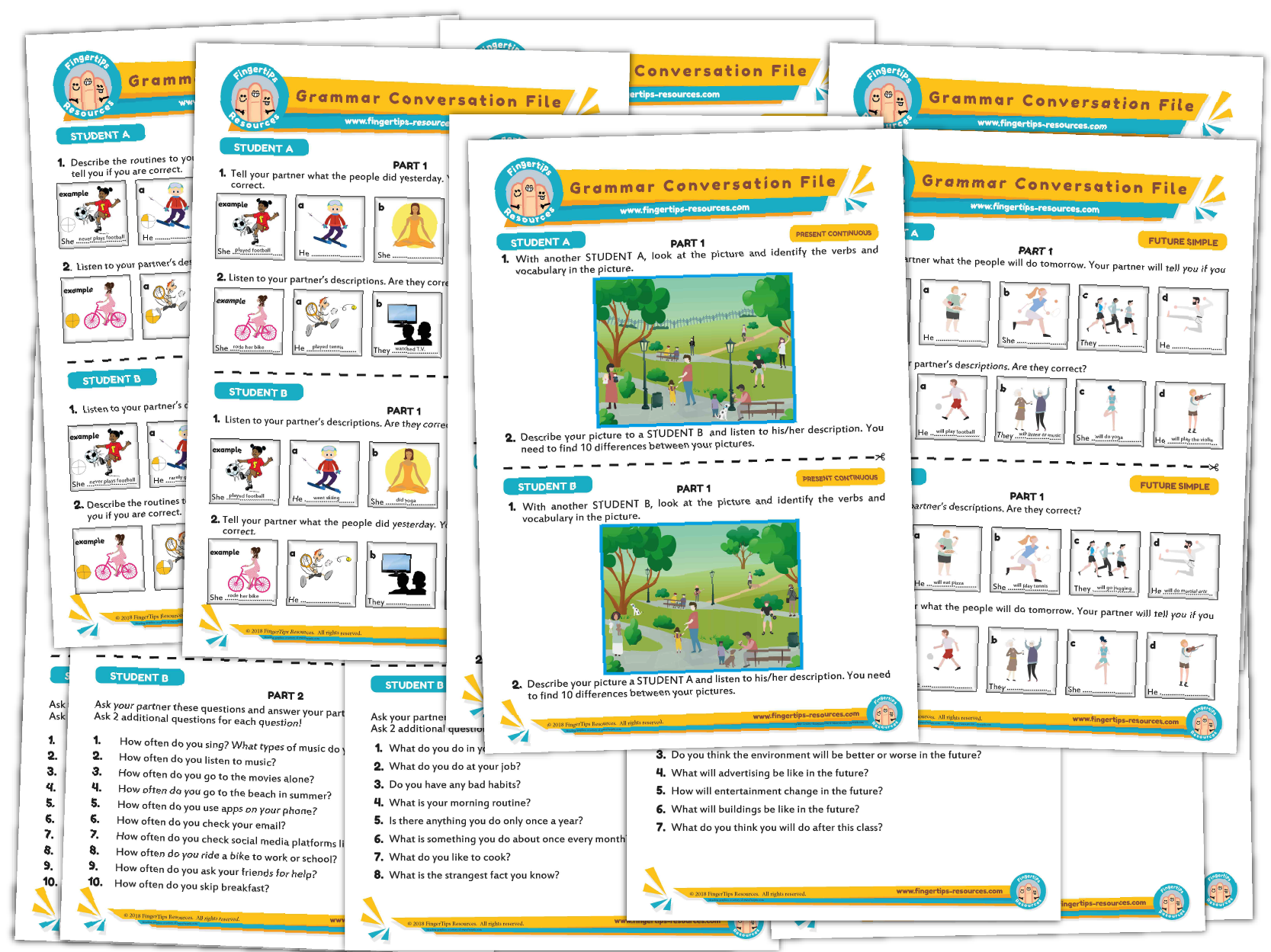 Elementary Grammar Speaking Bundle