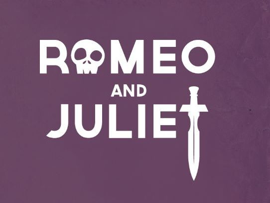 Romeo and Juliet Word Cloud (heart shaped)