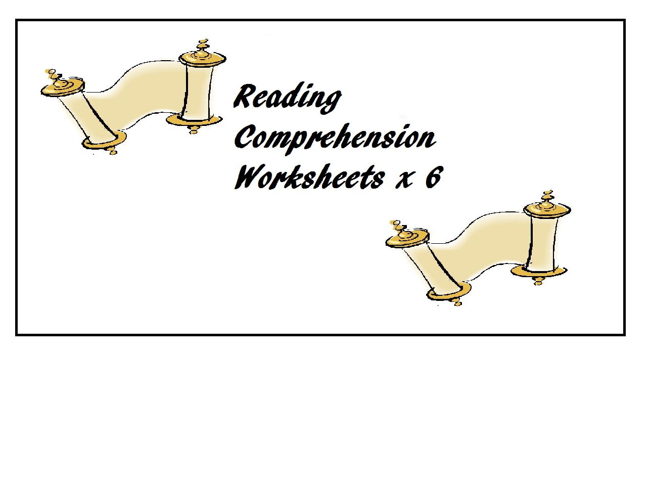 Reading Comprehension Worksheets x 6 (60 % OFF) - ESL, ELT, ELL - Intermediate to Advanced