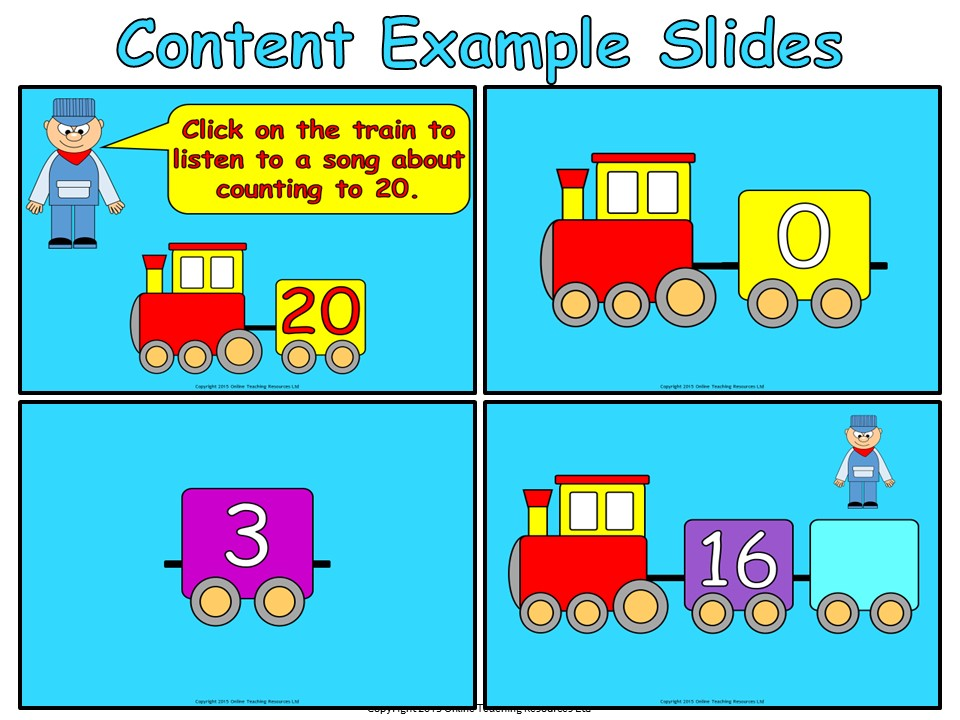 The 20 Train - Counting to 20 (PowerPoint, worksheets and wall ...