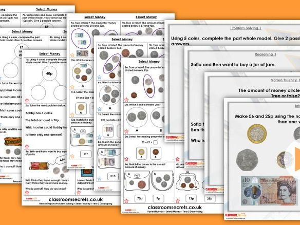 Year 2 Select Money Autumn Block 3 Step 4 Lesson Pack