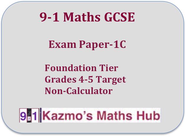9-1 GCSE Maths Exam Paper 1C