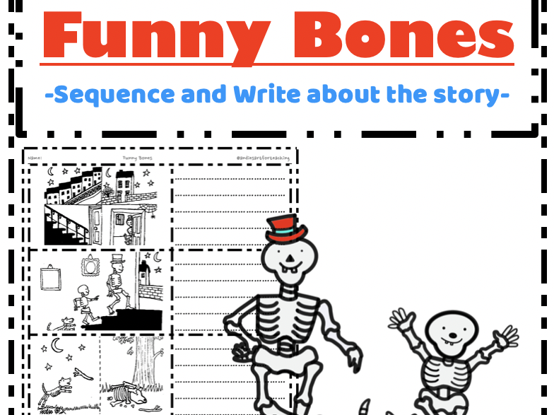 Funny Bones Janet Ahlberg - Sequence and Write Retell the story cut & paste