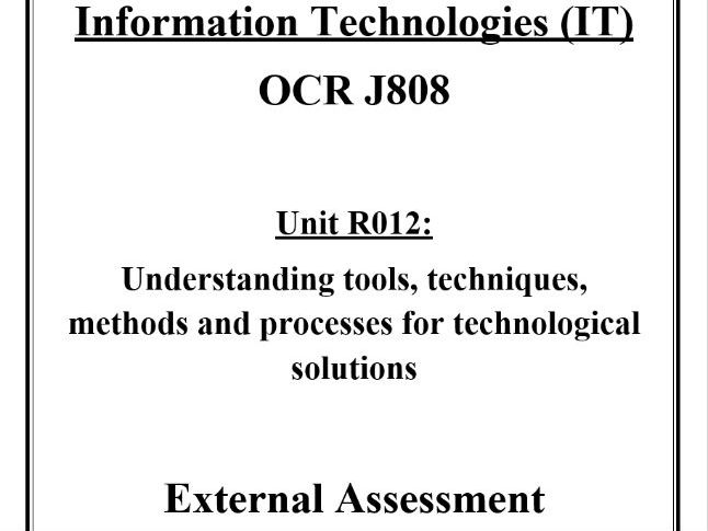 R012 - Cover Page and Contents