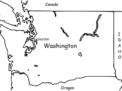 WASHINGTON (US State) Introductory Geography Worksheet