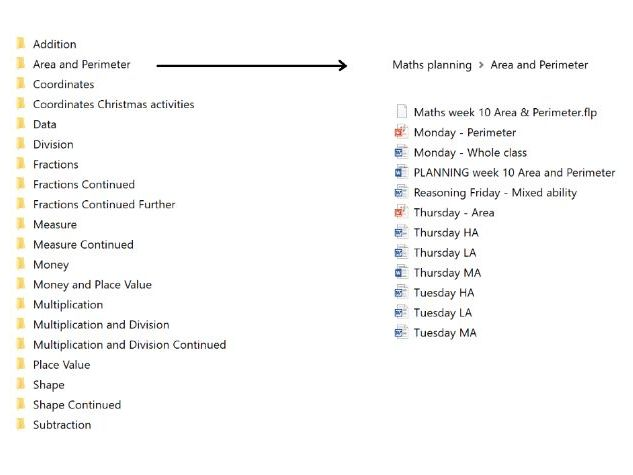 Maths Planning - 20 individual weeks of maths planning and resources
