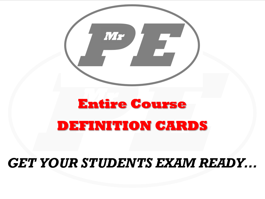 DEFINITION CARDS Entire Course