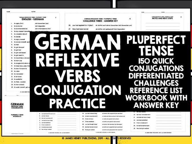 GERMAN REFLEXIVE VERBS CONJUGATION 6