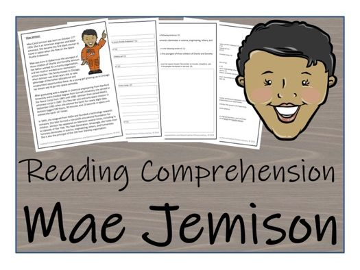 UKS2 Literacy - Mae Jemison Reading Comprehension Activity