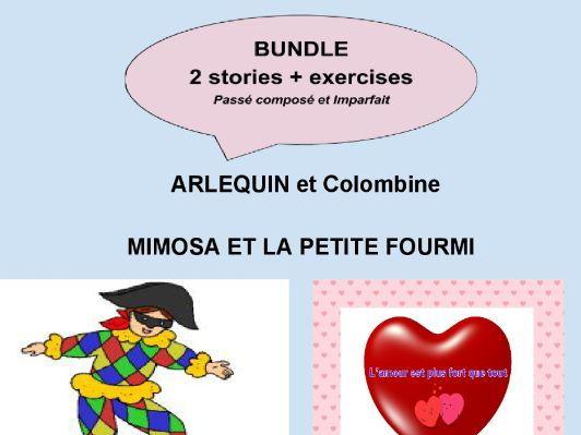 french past tense bundle of stories with exercises pass compos imparfait by auteuresofi. Black Bedroom Furniture Sets. Home Design Ideas
