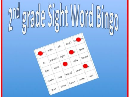 Sight Word Bingo - 2nd grade sight words