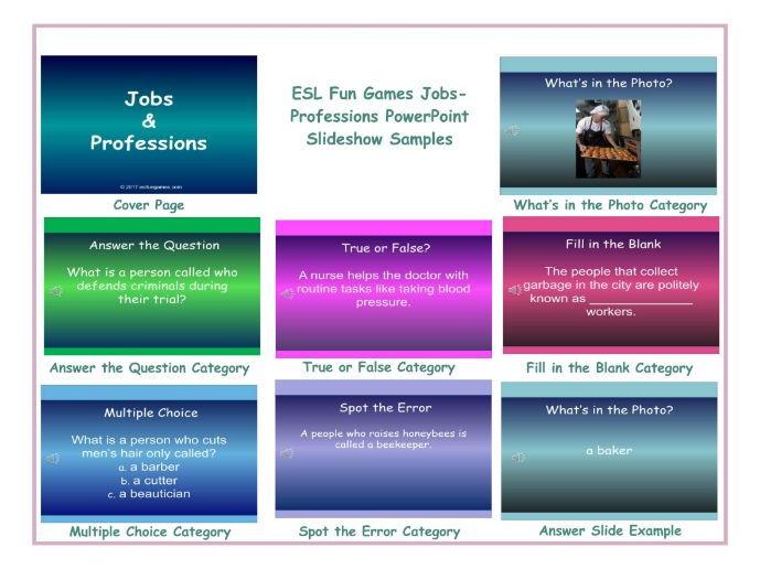 Jobs-Professions PowerPoint Slideshow