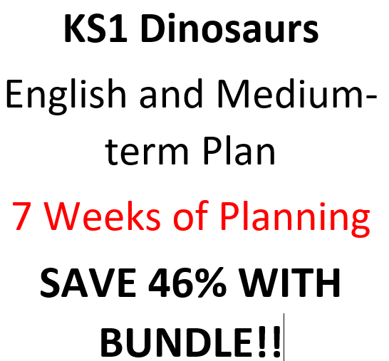KS1 Dinosaur Planning (7 Weeks and MTP) (46% off with BUNDLE)