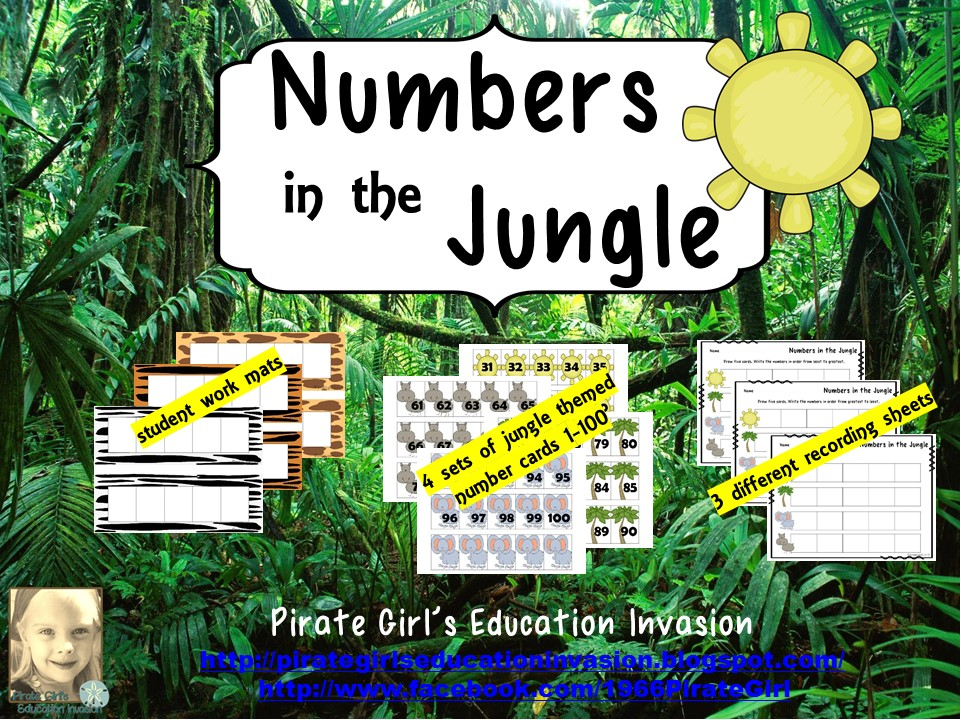 Jungle Themed Number Card Sets