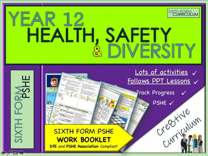KS5 PSHE - Health Diversity + Safety  Work Booklet