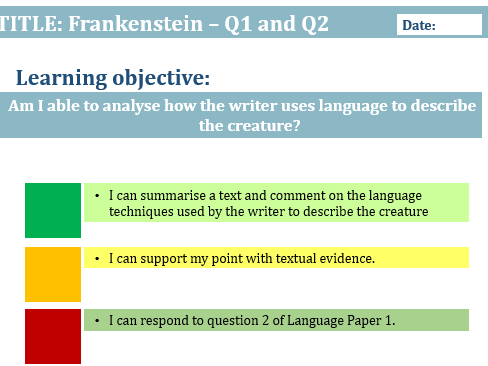 LANGUAGE PAPER 1 - Q1-4 (3 lessons and worksheets)