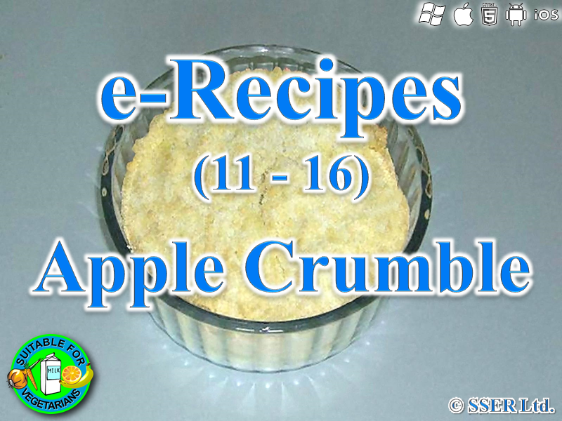 3.       Apple Crumble (e-Recipe)