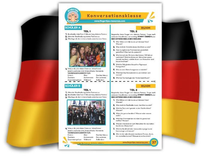 Ruhm - German Speaking Activity