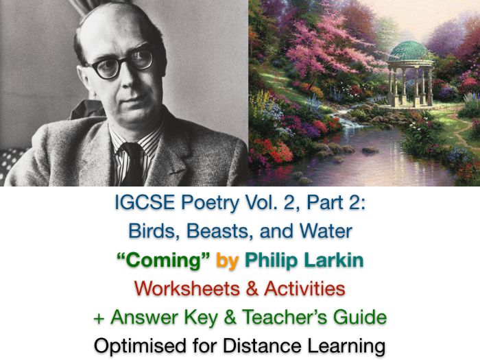 "IGCSE Poetry: ""Coming"" by Philip Larkin (Complete Teaching Unit + EXAM PREP)"
