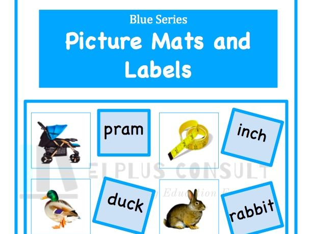 Blue Picture Mats and Labels