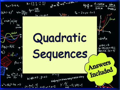 Quadratic Sequences - 20 Questions with answers