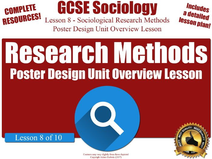 Unit Overview & Revision Lesson - Sociological Research Methods (GCSE Sociology L8/10)