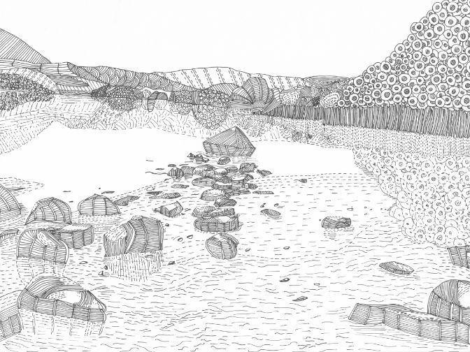 Lake View Colouring Page (Lake District)