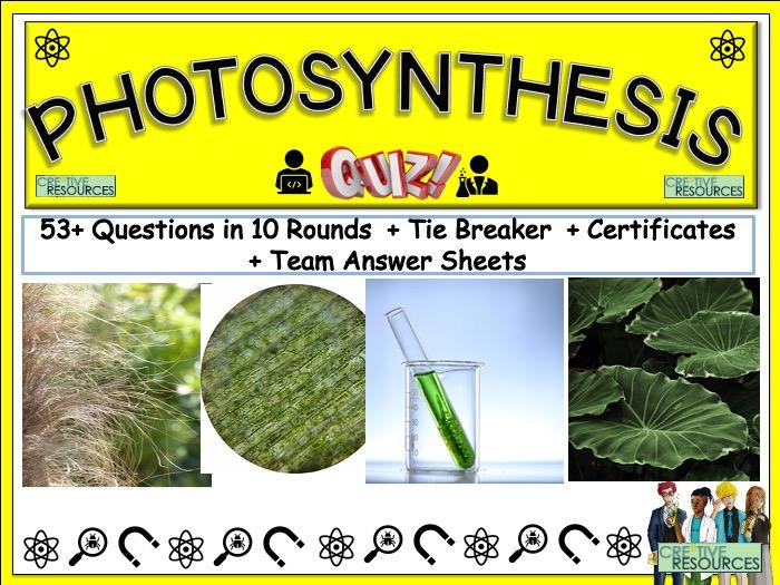 Photosynthesis Science Quiz