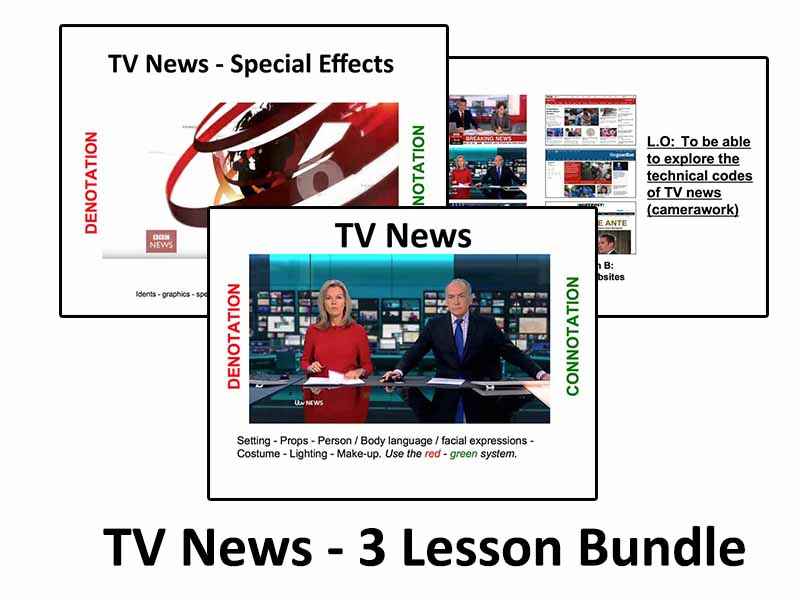 TV News Analysis - 3 Lesson Bundle