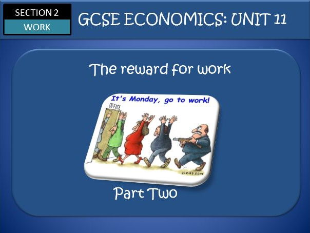 AQA GCSE Economics Unit 11 WORK