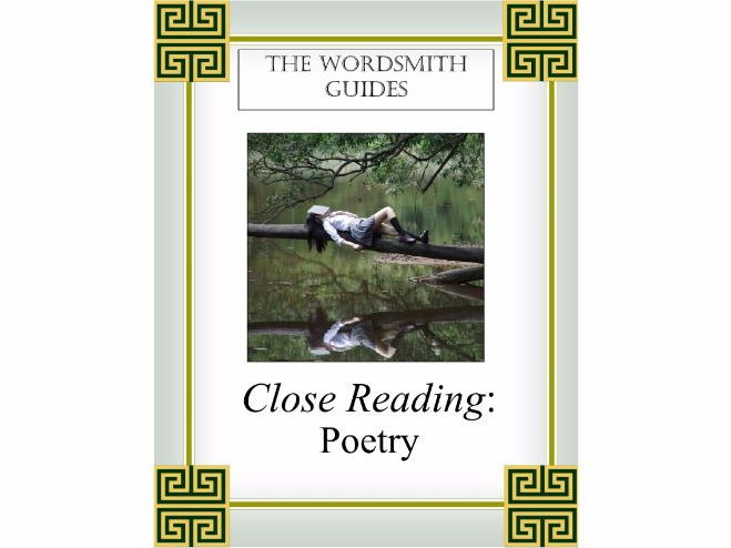 Close Reading: Poetry Study Unit, Student Edition