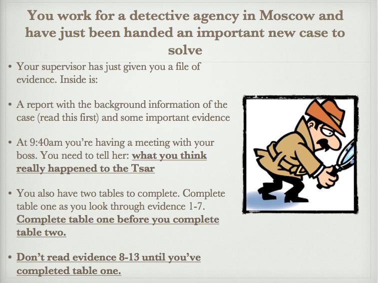 Who murdered the Tsar? Murder Mystery!