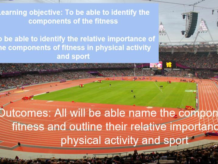 Components of fitness lesson GCSE PE Edexcel 9-1