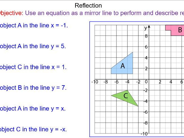 GCSE Transformations - Reflections on a Grid