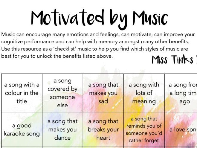Motivated by Music - Wellbeing