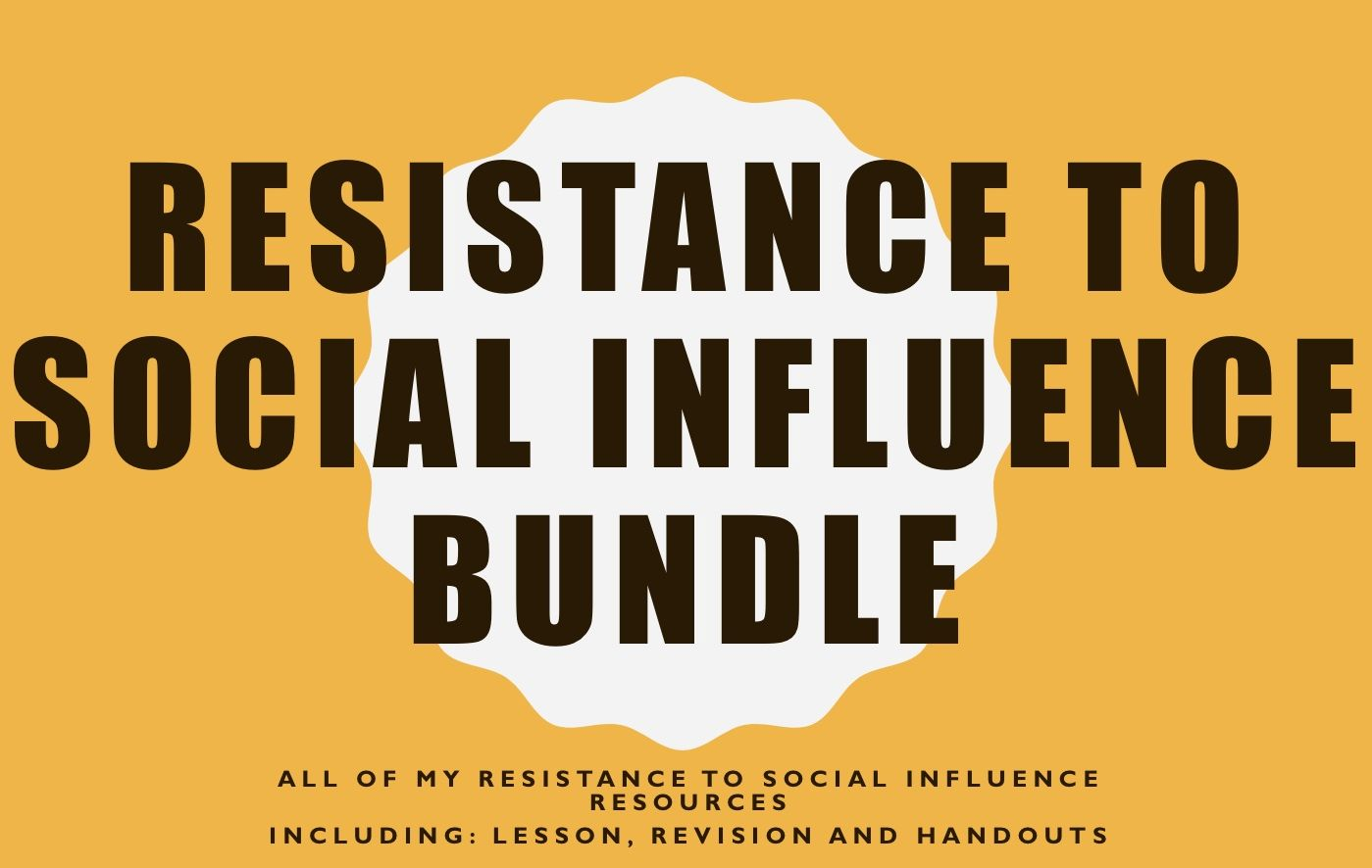 Resistance to Social Influence Bundle