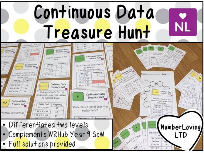 Continuous Data (Treasure Hunt)