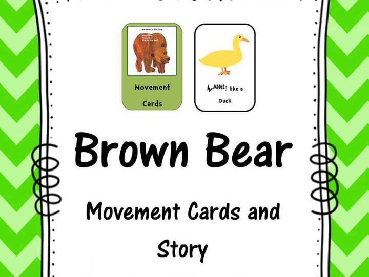 Brown Bear Movement Cards and Story