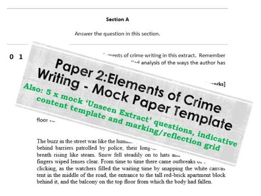 AQA English Literature B - Exam Paper template (Paper 2) + Section A Practice Questions