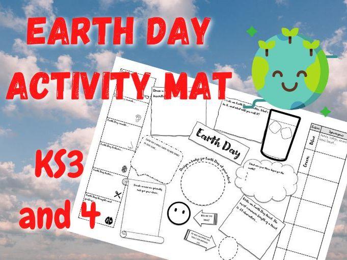 Earth Day | Printable Activity Mat | KS3 and KS4