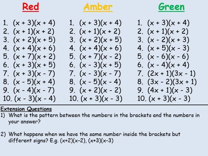 Expand and Simplify Double Brackets