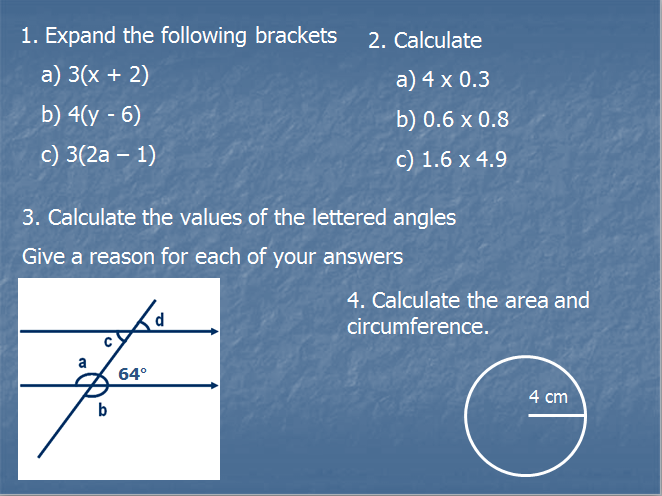 GCSE Mathematics Foundation revision  ppts